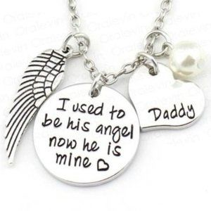Jewelry - I used to be his angel Daddy Necklace Dad New